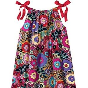 Hanna Andersson Red Floral Pillowcase Dress 120